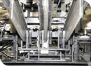 Linear stretch blow molding